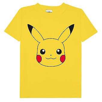 Pokemon Pikachu Face Damski Chłopak Fit T-Shirt   Oficjalny towar