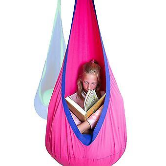 Kid Hammock Meubles de jardin Pod Swings Chaise Intérieure Extérieure Assise Suspendue (Rose)