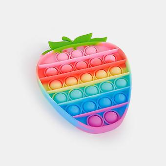 Fidget Toy Pop It Rainbow Strawberry Toy Stress Ontspannen