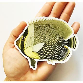 Sunset Butterflyfish Vinyl Sticker