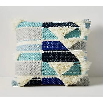 Spura Home Aiko Multi Color Block Shaggy 20x20 Pillow Cushion