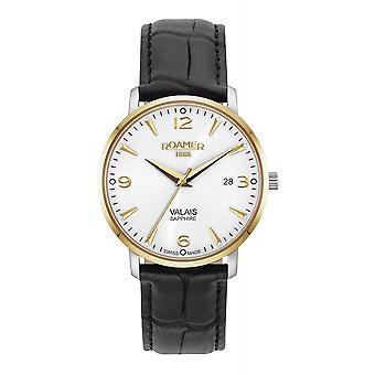 Roamer 958844 47 14 05 Women's Valais Black Leather Strap Wristwatch