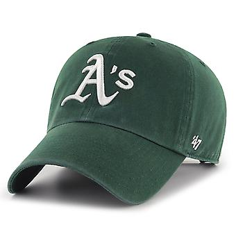 47 ogień zrelaksowany dopasowanie Cap - MLB Oakland lekkoatletyka Ciemny zielony