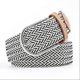 Unisex ležérní pletená spona tkaná elastický pás 110 cm (110cm)(Šedá)