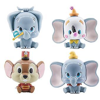 4pcs Dumbo Timothy Mini Figur Spielzeug