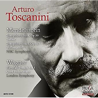 Mendelssohn / Wagner / Arturo Toscanini - Symphonies Nos 4 & 5 / Parsifal Prelude Good [SACD] USA import