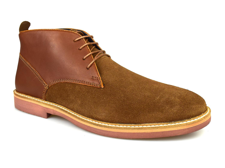 Silver Street Denmark Tan Leather & Suede Desert boots