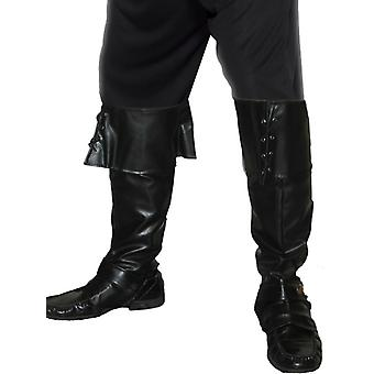 Pirate saappaat boot kansi nahka näyttää kaulukset merirosvo puku