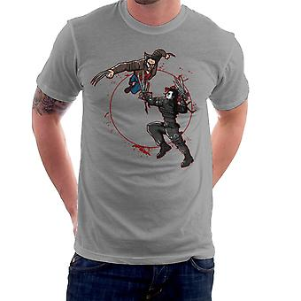 Blood Equinox Wolverine Vs Edward Scissorhands Men's T-Shirt