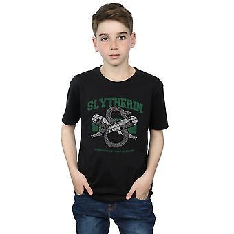 Garçons de Harry Potter Quidditch Serpentard emblème T-Shirt