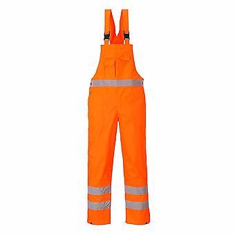 Portwest - Hi-Vis Safety Workwear Bib & Brace Dungaree- Unlined