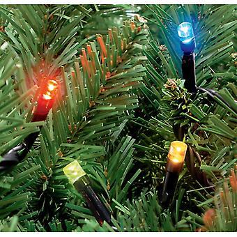 100 im freien statischen LED Weihnachtsbeleuchtung in Multi-Coloured