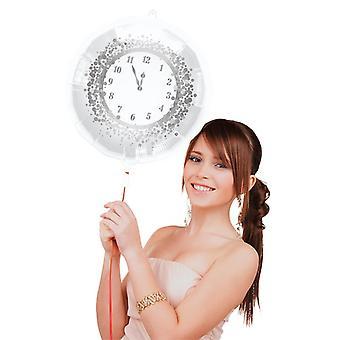 Balão preto 45cm da folha do feliz ano novo projeto relógio de Eve de ano novo