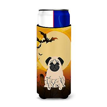 Halloween Pug Fawn Michelob Ultra Hugger for slim cans