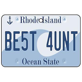 Rhode Island - beste tante License Plate auto luchtverfrisser