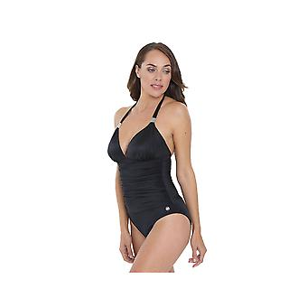 Seaspray SY006351A Women's Black Solid Colour Costume One Piece Swimsuit
