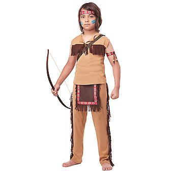 Native American Brave Indian Western Wild West Book Week Boys Costume