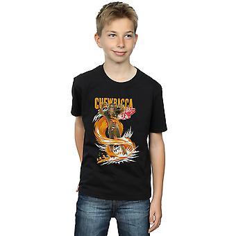 Star Wars meninos Chewbacca gigantesco t-shirt