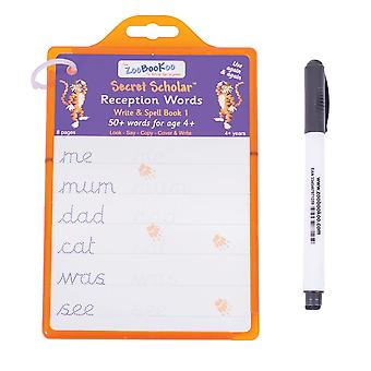 ZooBooKoo Secret Scholars Reception Words Write Spell Learn Play Educational