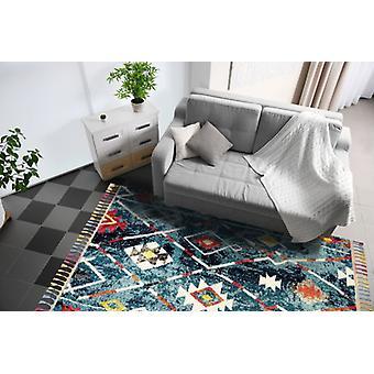 Koninklijke Marrakech 2267A donker turkoois rechthoek tapijten traditionele tapijten