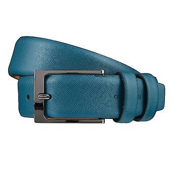 OTTO KERN belts men's belts leather belt Denim/Blue 3671