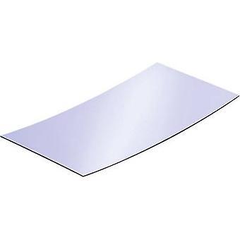 Reflective polystyrol sheet Reely (L x W) 200 mm x 100 mm 1 mm