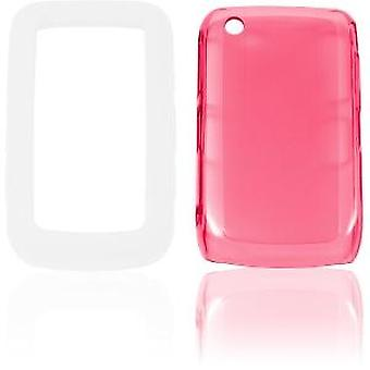 Ventev 3inONE High Gloss Snap-On Gel Case for BlackBerry 8520, 8530, 9300, 9330 -  Pink