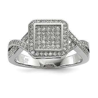 925 Sterling Silver Pave Rhodium plated and CZ Cubic Zirconia Simulated Diamond Fancy Ring Jewelry Gifts for Women - Rin
