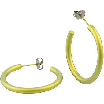 Ti2 טיטן 25mm החישוק עגילים-לימון צהוב