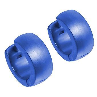 TI2 Titanium D Form Manschette Creolen - Marineblau