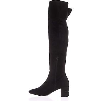 إصبع القدم النسائي الفاني النسيج نوفا اللوز فوق الركبة أزياء أحذية