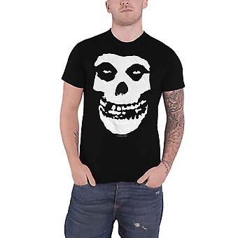 Misfits T Shirt Classic Fiend Skull Band Logo new Official Mens Black
