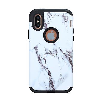 iPhone X Armor Shell/Case Marble pattern-Black