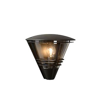 Lucide Livia moderne Halbrund Aluminium schwarz Wandleuchte