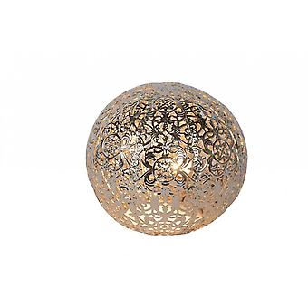 Lucide Paolo Cottage Globe Metal Silver Table Lamp