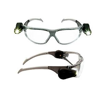 3M 11356-00000M LED Light Vision Safety Glasses Anti-Scratch/Anti-Fog Clear Lens