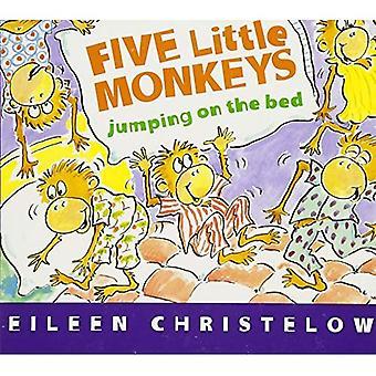 Pięciu małego małp, skoki na łóżku (Board Book)
