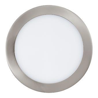 Eglo - Fueva-C conectar branco ajustável controlado & RGB para baixo luz cetim níquel EG96676