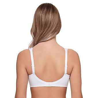 Susa 7957-3 algodón orgánico de la mujer blanco no cableado mastectomía Soft Bra
