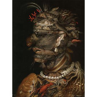 Woda, Giuseppe Arcimboldo, 66x 50,5 cm