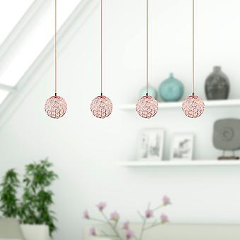Moderne nikkel plafond lichtpunt gang 5 hang lamp rechthoekige luifel