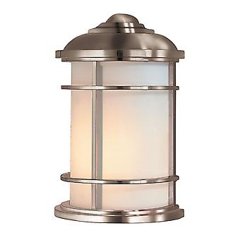 Elstead-1 ljus Half Wall Lantern-borstat stål finish-FE/LIGHTHOUSE/7