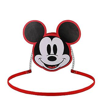 Mickey Mouse Face Red Shoulder Bag