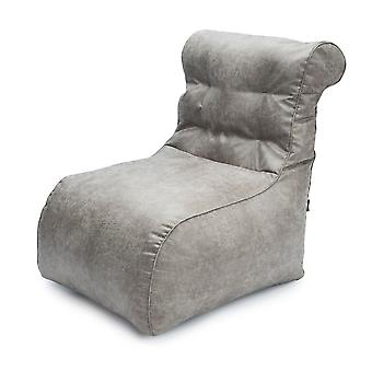 Luxury Scroll Style Marble Faux Leather Bean Bag Lounger Chair