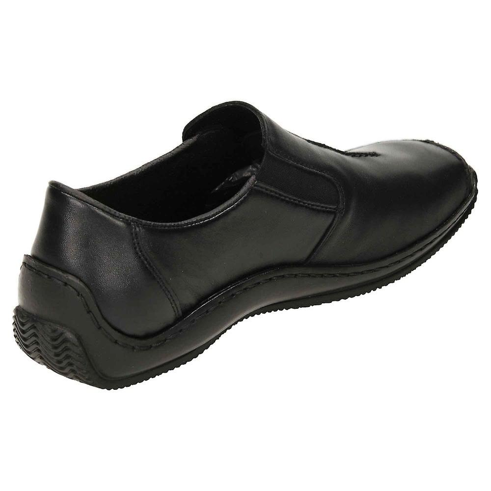 Rieker Slip On Flat Loafer Leather Shoes L1751-00