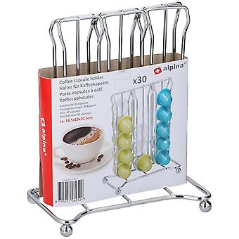 Chrome Flat 30 capsule de cafea pod Dispenser suport stand de stocare