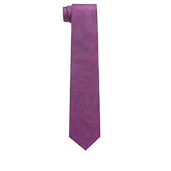 Dobell Mens Purple Paisley Tie Satin Feel Fabric Wedding Necktie