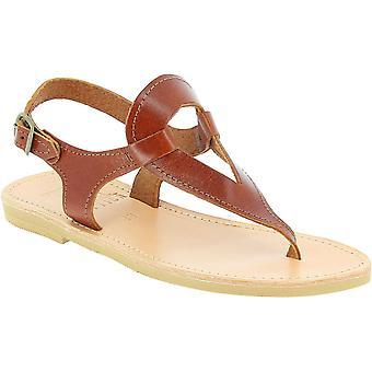 Attica Sandali 5043 Donne's Flip flop in pelle marrone