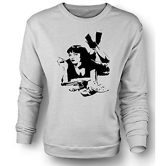 Mens Sweatshirt Pulp Fiction - Mia Wallace - pochoir