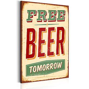 Schilderij - Free Beer Tomorrow